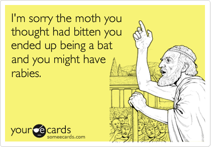 I'm sorry the moth you