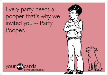 Image result for party pooper images