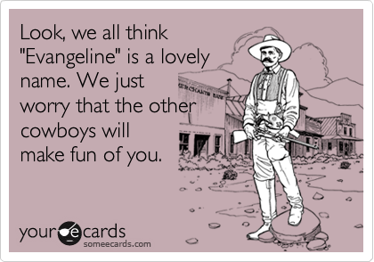 Look, we all think