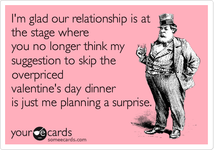 I'm glad our relationship is at