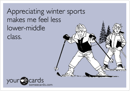 Appreciating winter sports 