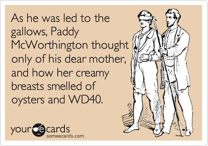As he was led to the