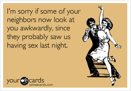 I'm sorry if some of your