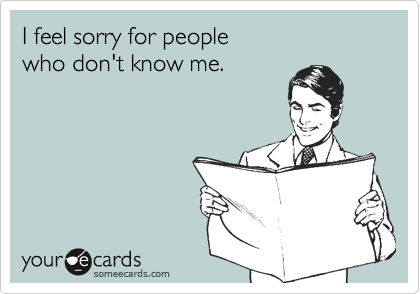 I feel sorry for people