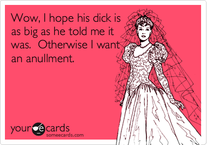 Wow, I hope his dick is