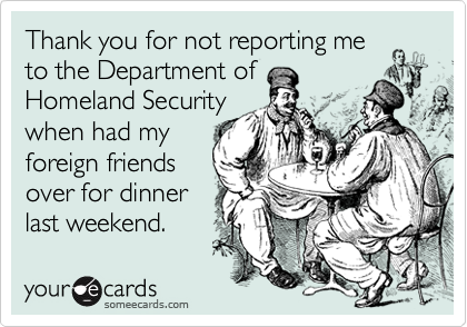 Thank you for not reporting me