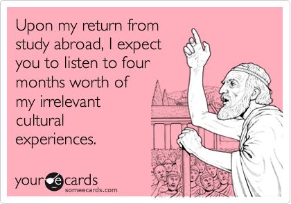 Upon my return from