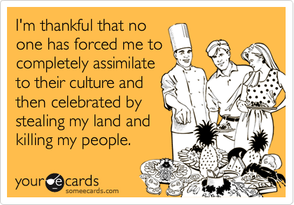 I'm thankful that no