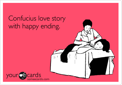 Confucius love story 