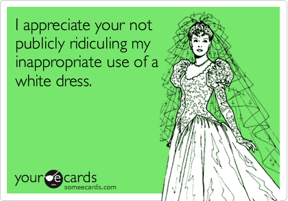 I appreciate your not