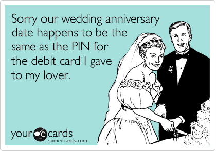 Sorry our wedding anniversary