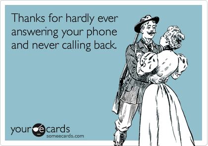 Thanks for hardly ever