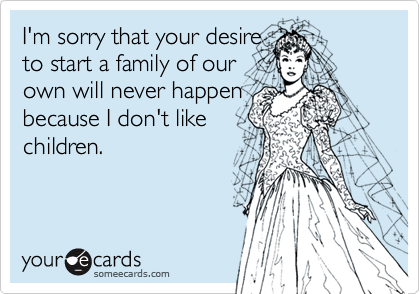 I'm sorry that your desire