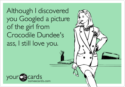 Although I discovered