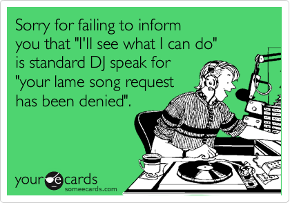 Sorry for failing to inform 