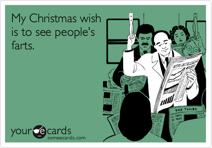 My Christmas wish is to see people'sfarts.