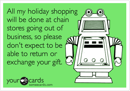All my holiday shopping