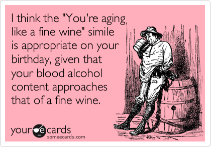 "I think the ""You're aging