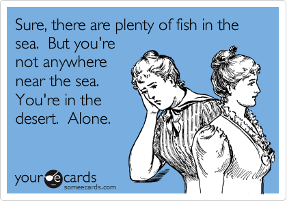 Sure, there are plenty of fish in the sea.  But you're