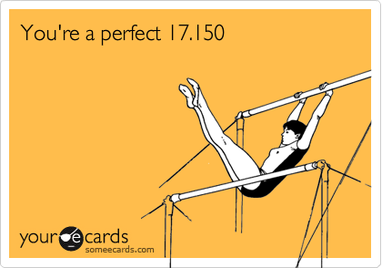 You're a perfect 17.150