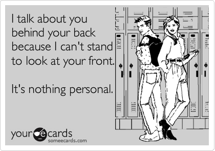 I talk about you