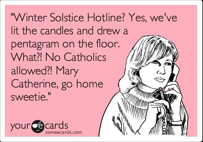 Winter solstice ecards