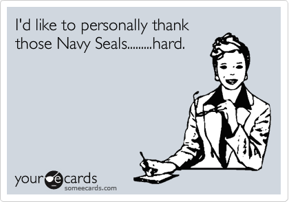 I'd like to personally thank