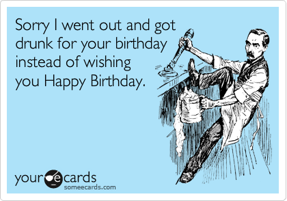 Sorry I went out and got