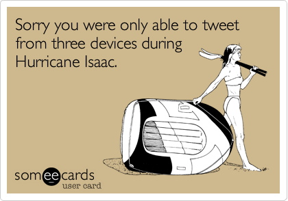 Sorry you were only able to tweet from three devices during