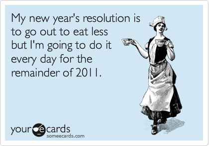 My new year's resolution is
