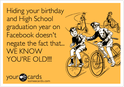 Hiding your birthday