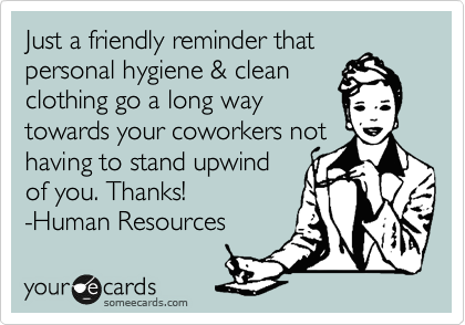 Just a friendly reminder that