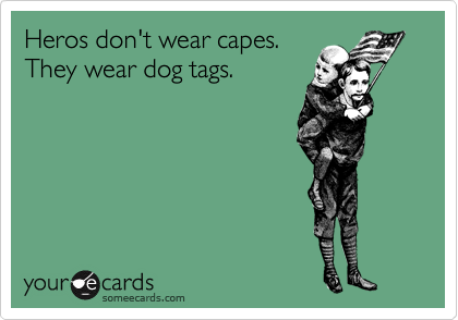 Heros don't wear capes.