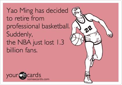 Yao Ming has decided