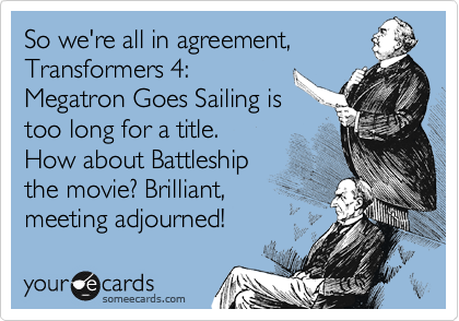 So we're all in agreement,