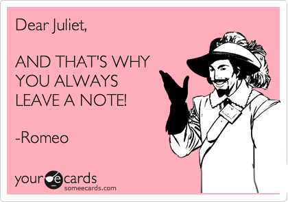 Dear Juliet,