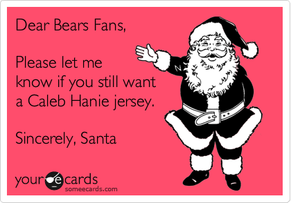 Dear Bears Fans, 