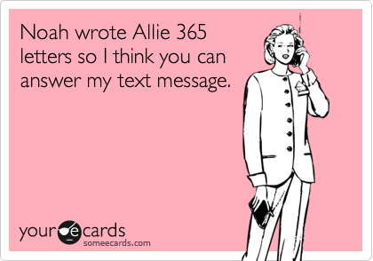 Noah wrote Allie 365