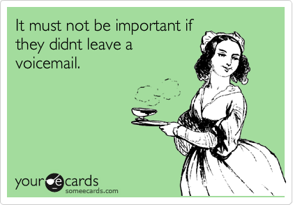 It must not be important if