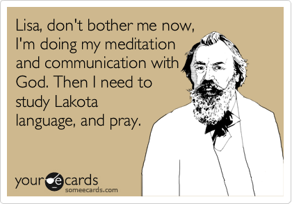 Lisa, don't bother me now,