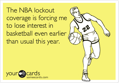 The NBA lockout