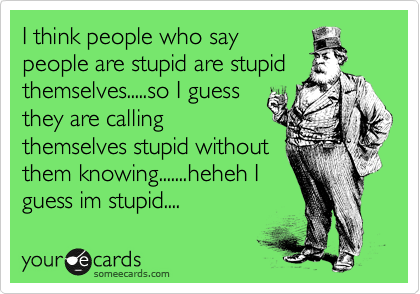 I think people who say