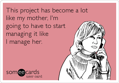 This project has become a lot 