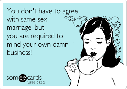 You don't have to agree