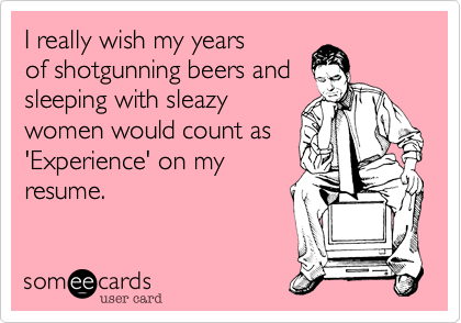 I really wish my years