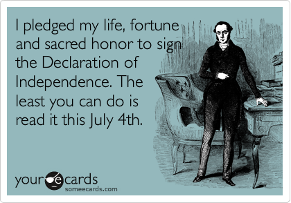 I pledged my life, fortune 
