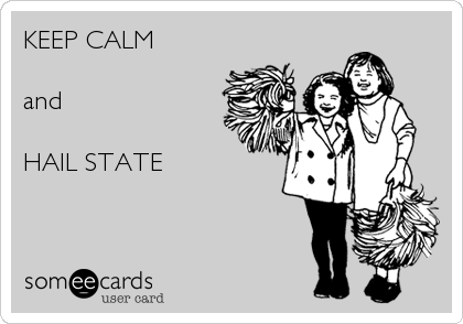 KEEP CALM  and  HAIL STATE