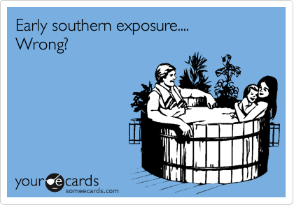 Early southern exposure....