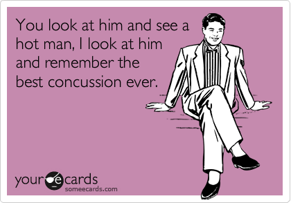 You look at him and see a