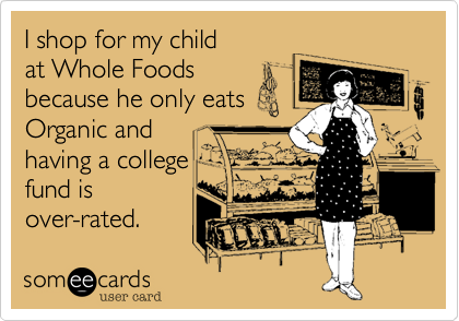 I shop for my child